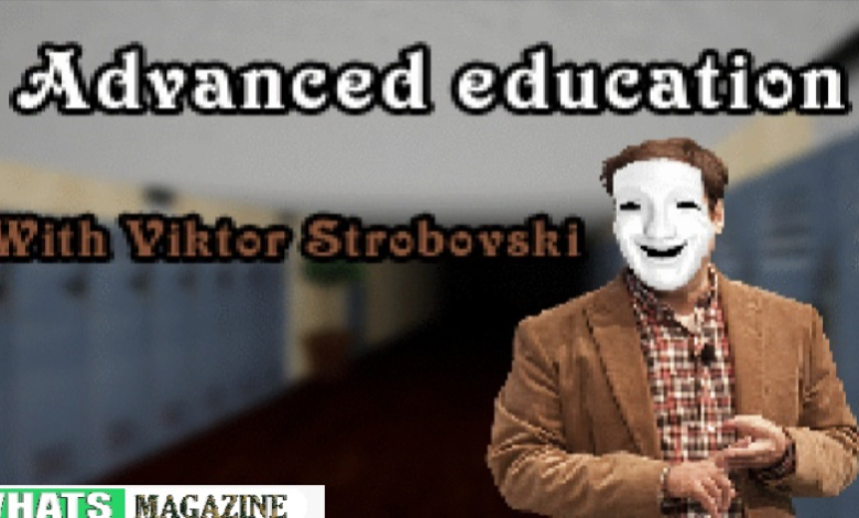 """Advanced Education with Viktor Strobovski. This is an instructional horror sport with more than one stage which is nevertheless in development. You will have to gather distinct notebooks of exclusive topics and clear up the mysteries of the """"school"""""""