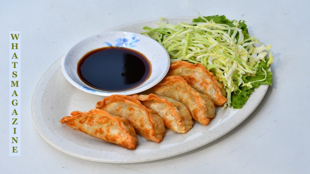 Anime food If you put the meat using vegetable-filled dumplings, you obtain a few very nice Gyoza. It grew out of China, then turned into a staple in Asia. The principal ingredients of the recipe comprise minced pork, cabbage, celery, chives, and green onion. The dumplings are full of mixed veggies.